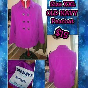 Plus Size Old Navy Fuscia Pea Coat